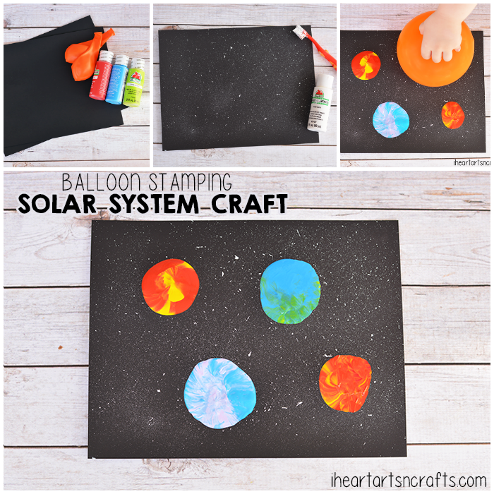 Balloon Stamping Solar System Craft For Kids I Heart