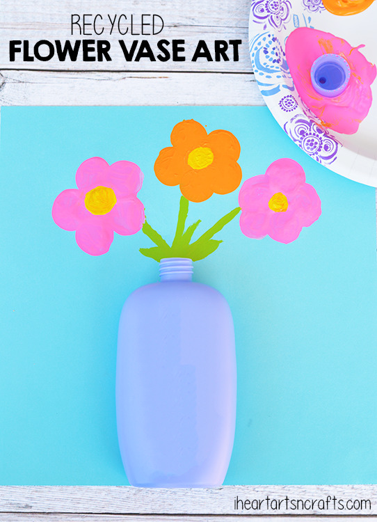 Recycled Flower Vase Art