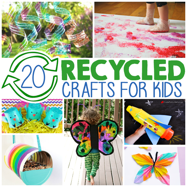 20 kids crafts from recycled materials i heart arts n crafts for Art and craft for kids from waste material