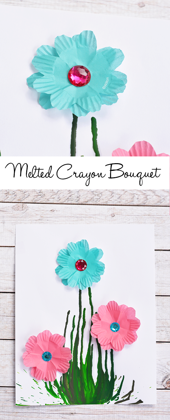 Melted Crayon Bouquet