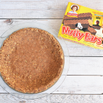 No Bake Peanut Butter Nutty Bar Pie