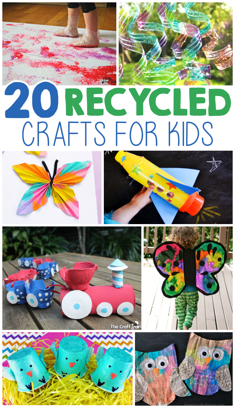 20 kids crafts from recycled materials i heart arts n crafts for Items made from waste material for kids