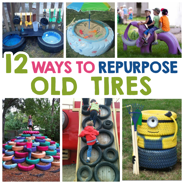 12 creative ways to repurpose old tires i heart arts n for How to recycle old tires
