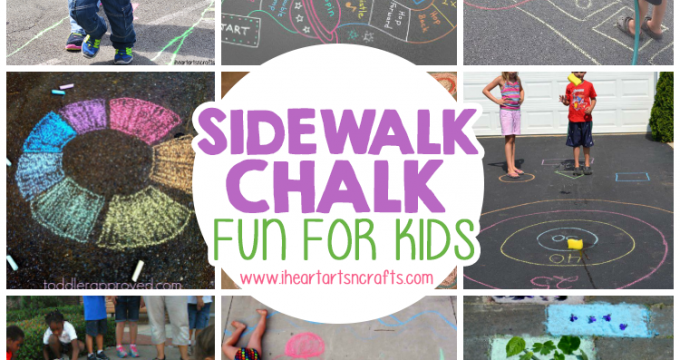 12 Super Fun Ways To Play With Sidewalk Chalk