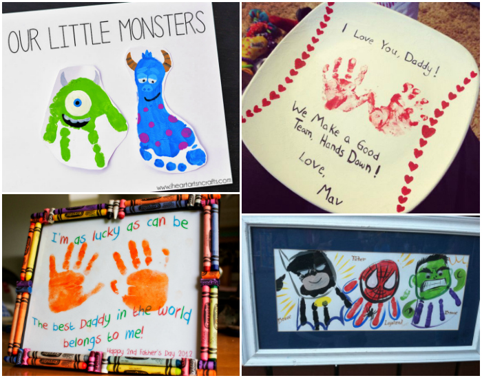 18 Fathers Day Kids Handprint And Footprint Crafts