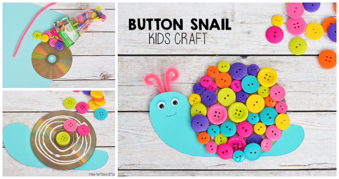 Button Snail Craft For Kids - I Heart Arts n Crafts