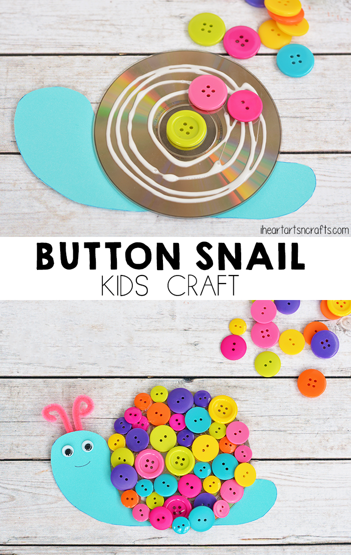 Button Craft Ideas For Kids Part - 35: Button Snail Craft For Kids