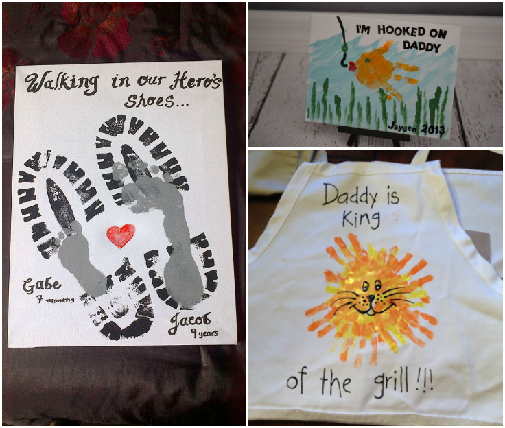 Easy Father's Day Footprint And Handprint Crafts