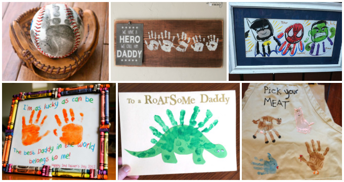 Father S Day Handprint And Footprint Crafts For Kids I Heart Arts N Crafts