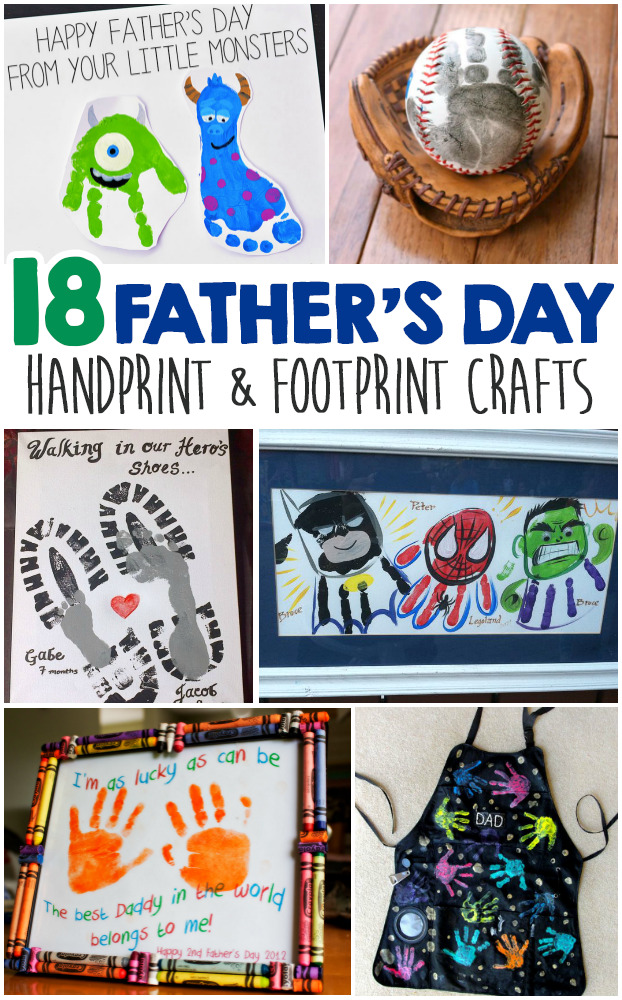 Father's Day Handprint And Footprint Crafts For Kids