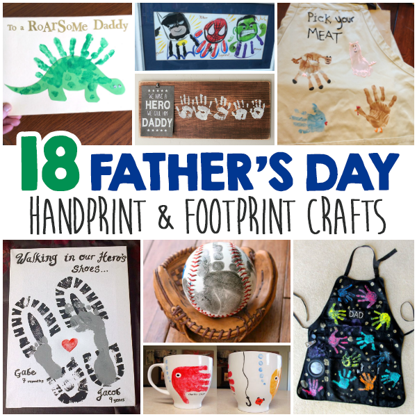 Father S Day Handprint And Footprint Crafts For Kids I Heart Arts