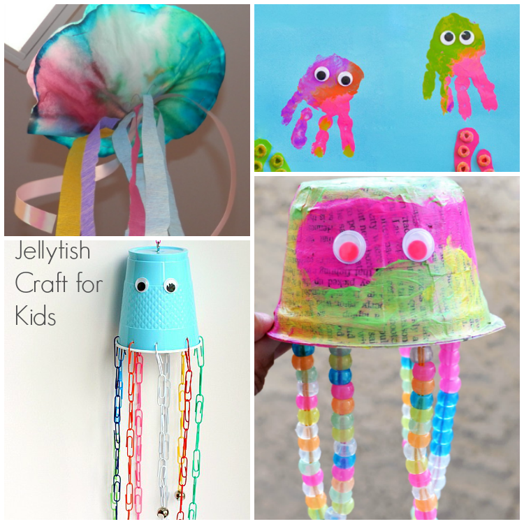 Colorful Jellyfish Crafts For Kids - I Heart Arts n Crafts