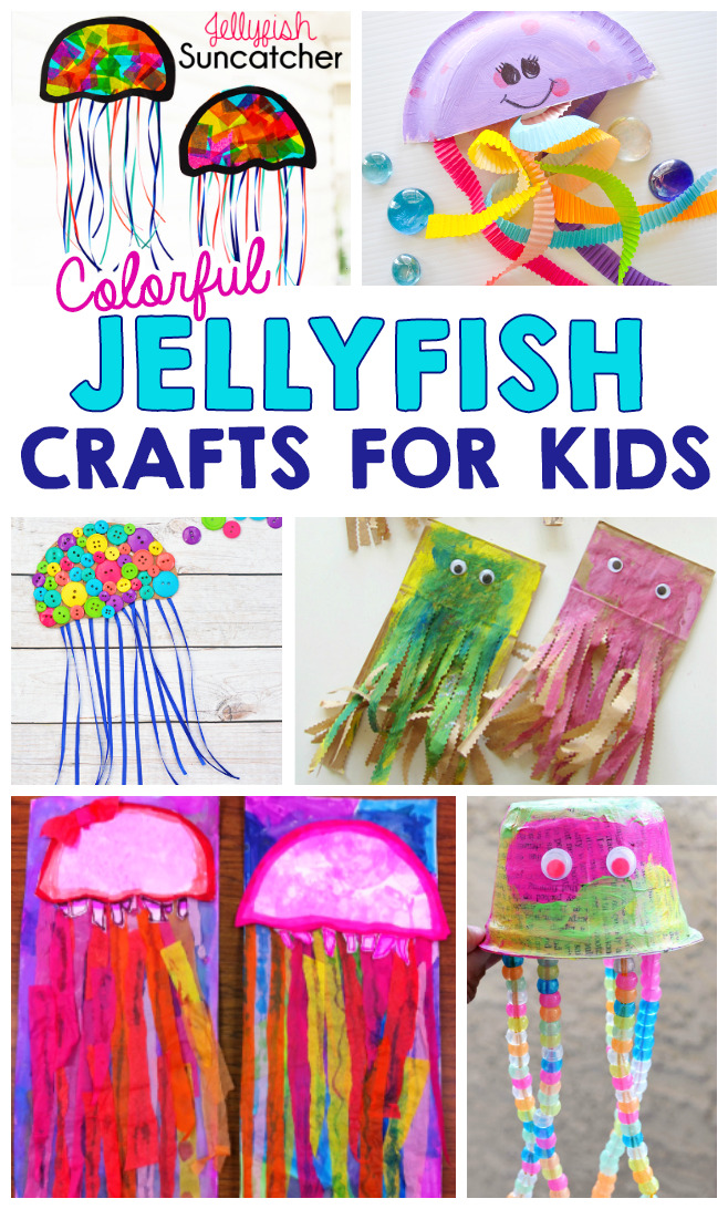 Colorful Jellyfish Crafts For Kids