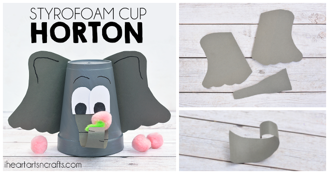 Styrofoam Cup Dr Seuss Horton Hears A Who Craft For Kids