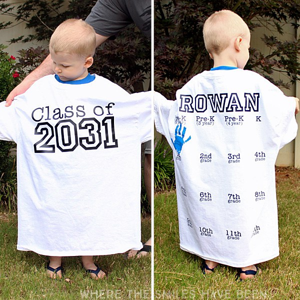 Yearly Back To School Handprint Shirt Idea