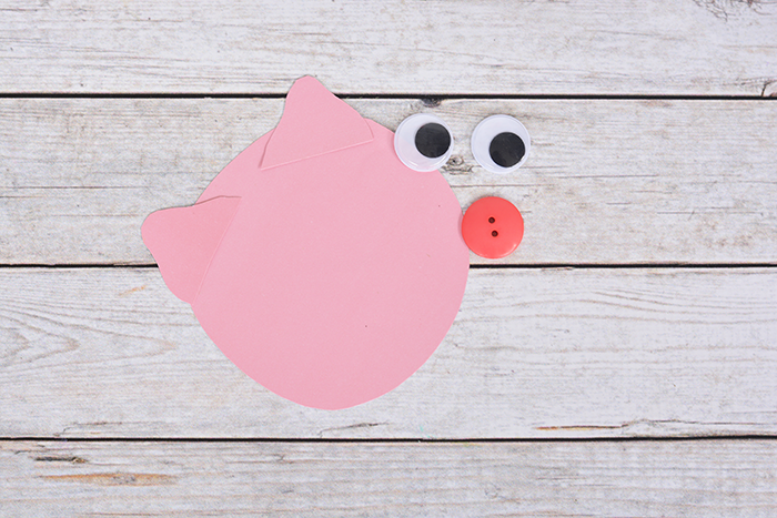 Cereal Box Pig Craft For Kids