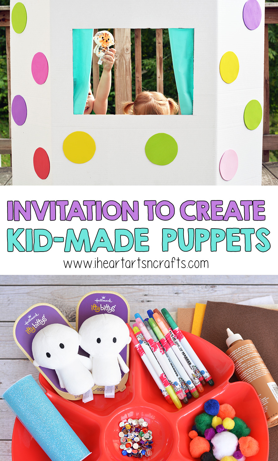 Invitation To Create DIY Kid-Made Puppets