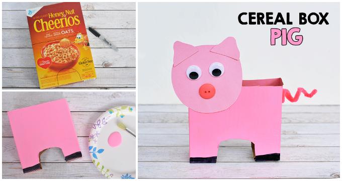 Cereal Box Pig Craft For Kids I Heart Arts N Crafts