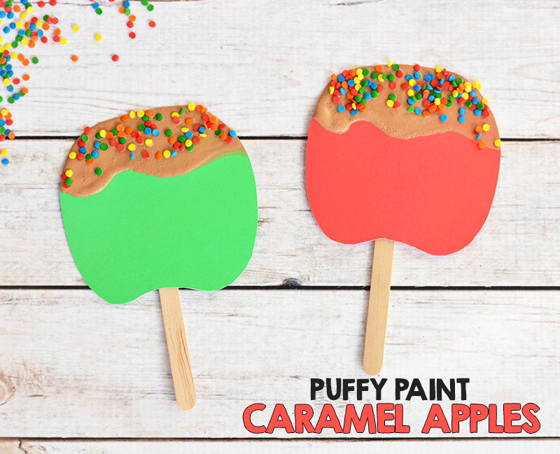 Puffy Paint Caramel Apple Craft For Kids I Heart Arts N Crafts