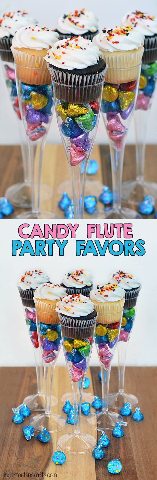 Candy Filled Flute Birthday Party Favors