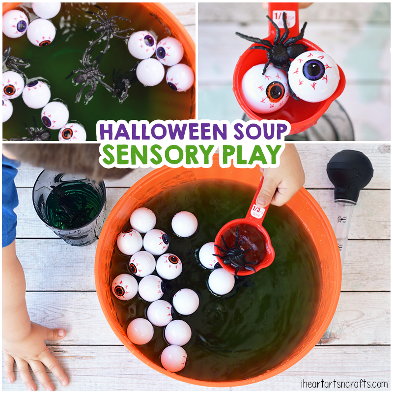 hanprint art for valentine's day - Halloween Soup Sensory Play I Heart Arts n Crafts