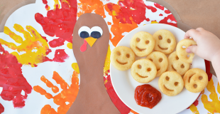 Handprint Turkey Placemat Craft For Kids