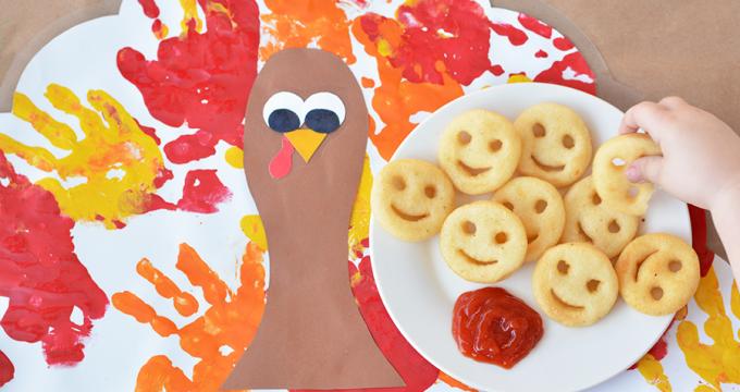 Handprint Turkey Placemat Craft For Kids