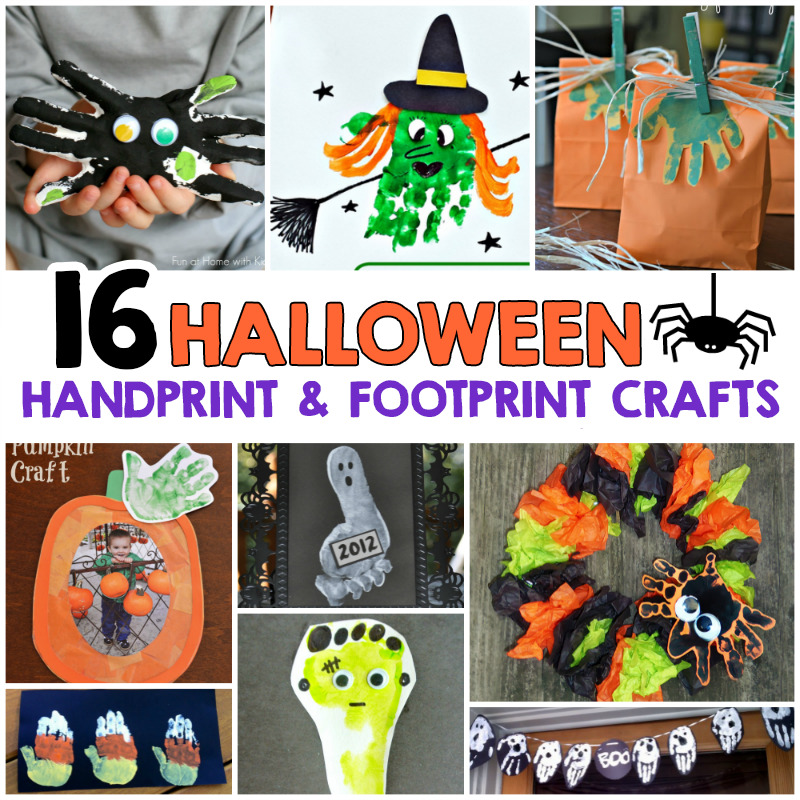 Halloween Handprint and Footprint Crafts For Kids