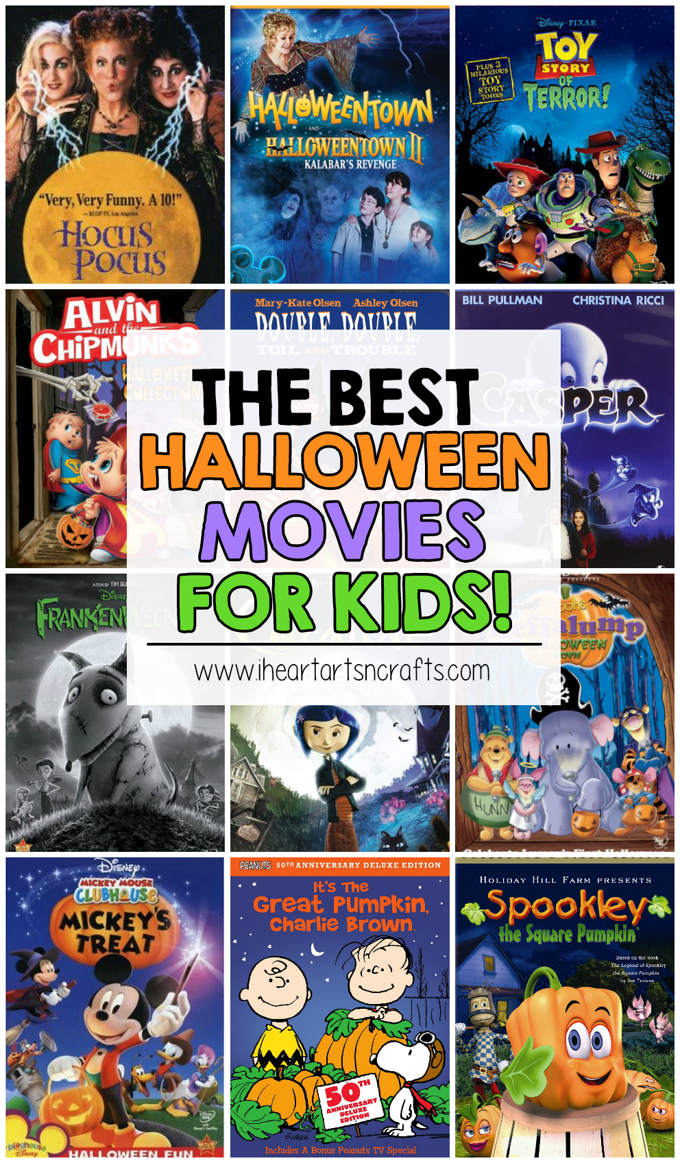 the best halloween movies for kids i heart arts n crafts - Top Kids Halloween Movies