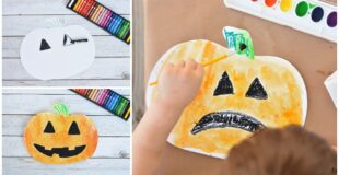Pumpkin Watercolor Resist Art For Kids
