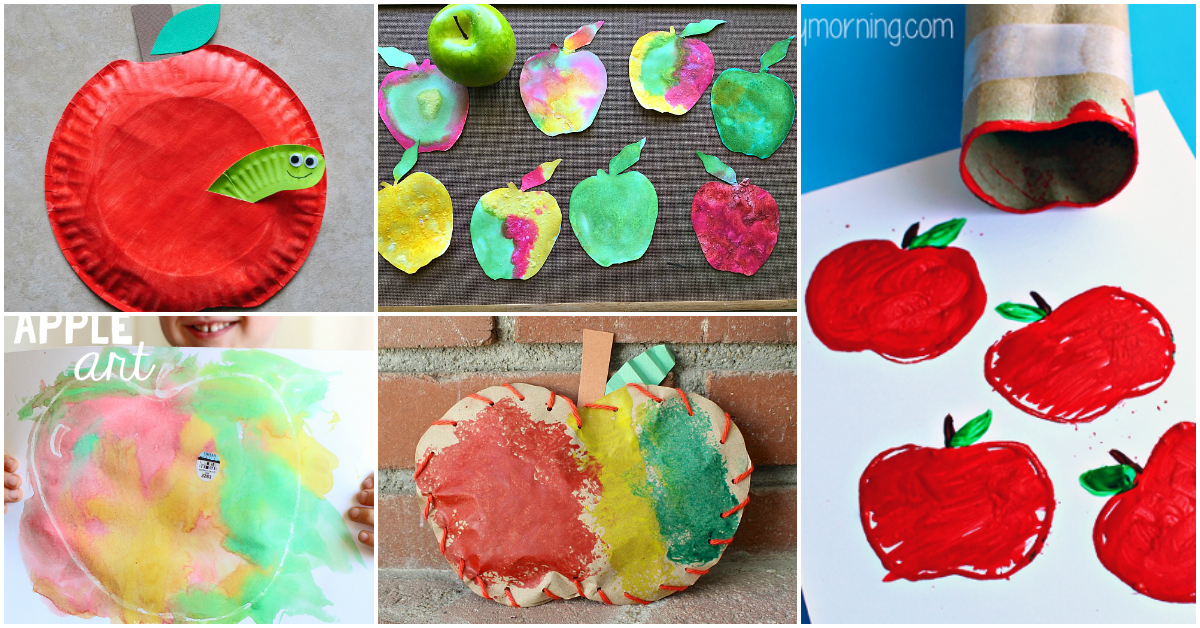10 creative apple crafts for kids to make i heart arts n for Art n craft for toddlers
