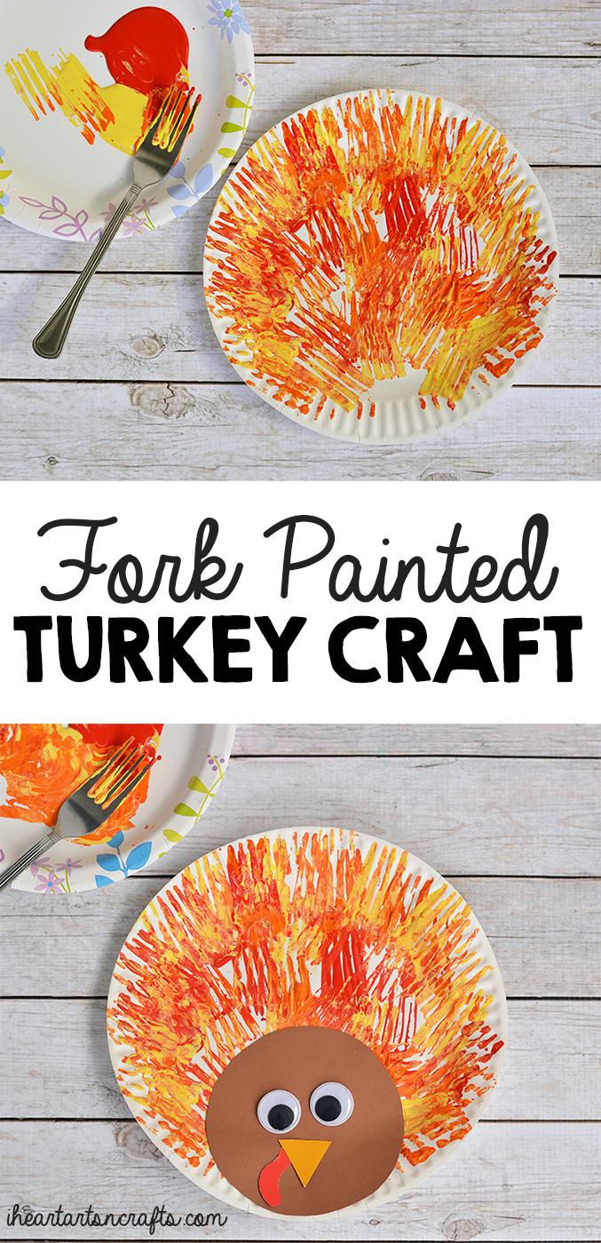 Fork Painted Turkey Craft For Kids · « · »  sc 1 st  I Heart Arts n Crafts & Fork Painted Turkey Craft For Kids - I Heart Arts n Crafts