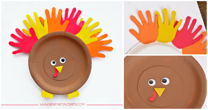 Paper Plate Turkey Kids Craft - I Heart Arts n Crafts