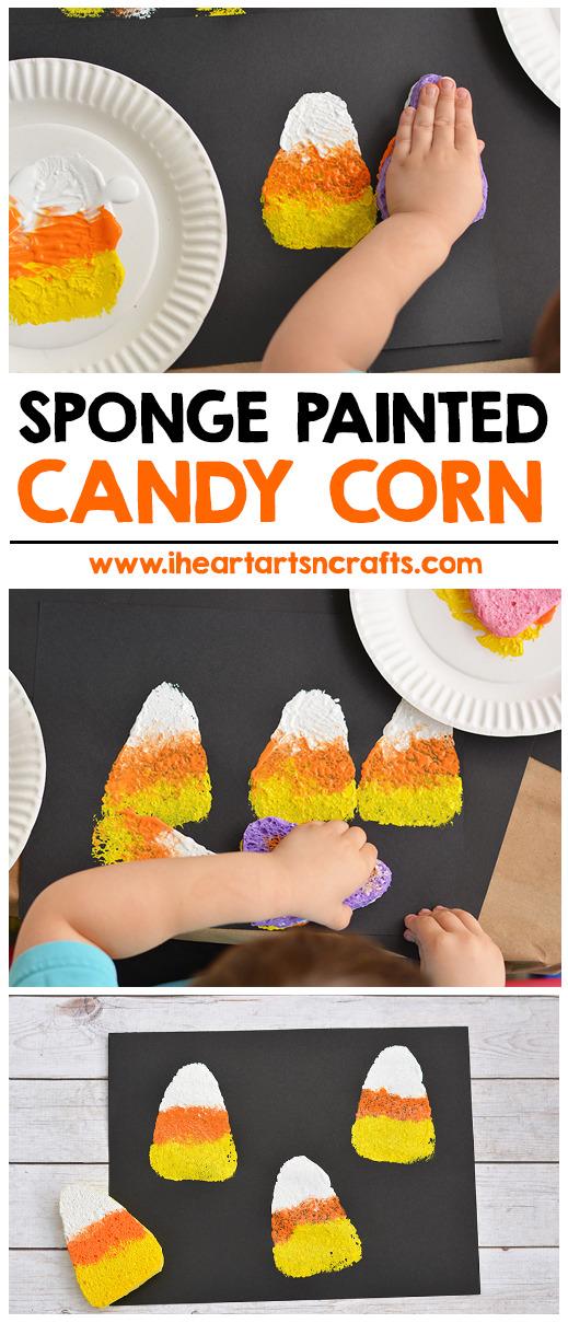 sponge-painting-candy-corn-preschool-activity