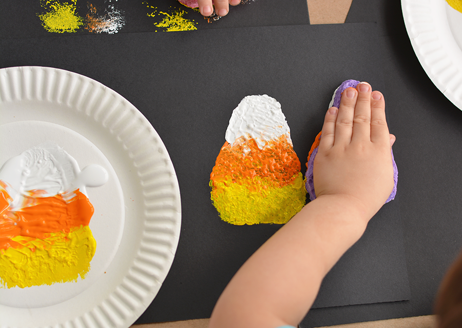 Sponge Painted Candy Corn Activity For Kids I Heart Arts