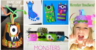 12 Not So Scary Monster Crafts For Kids