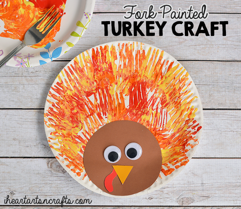 Fork Painted Turkey Craft For Kids I Heart Arts N Crafts
