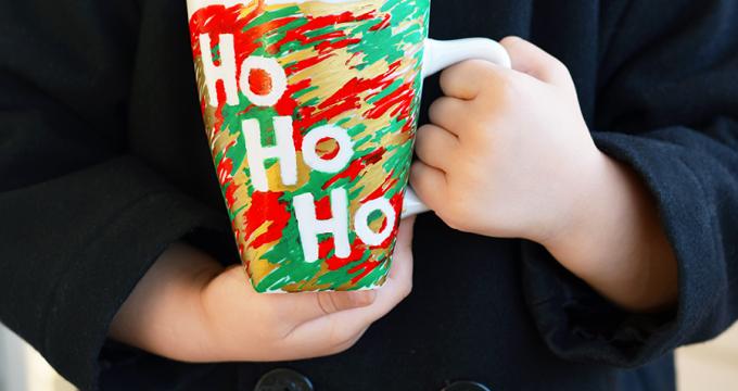 Kid Made Scribble Christmas Mug Gift