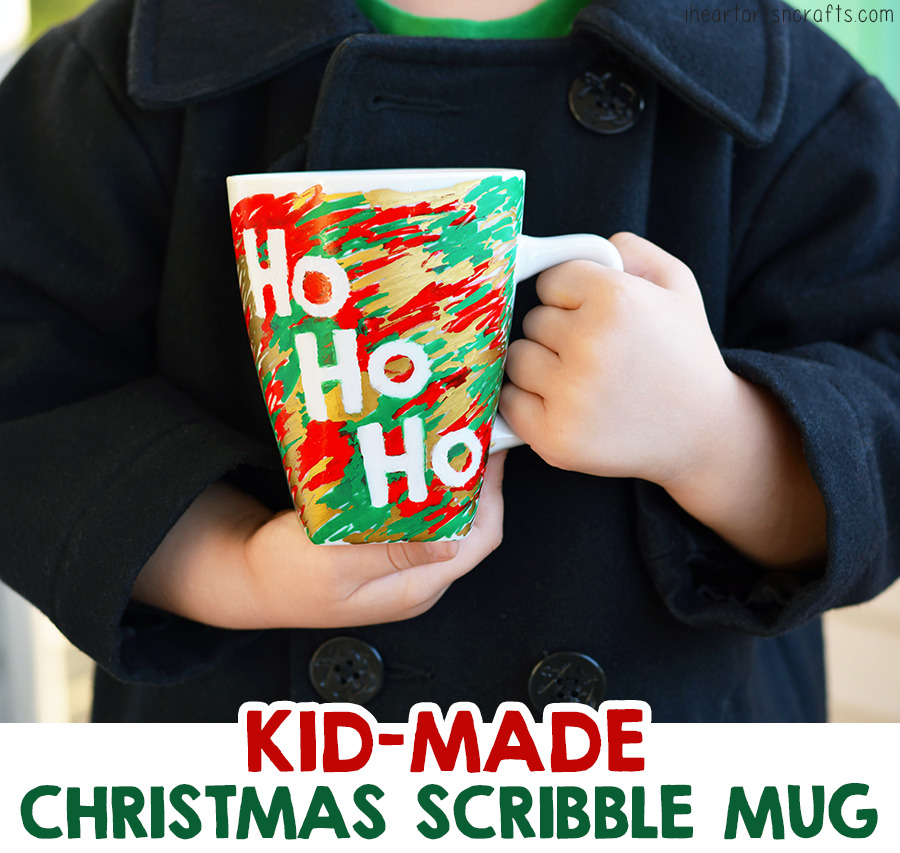 Kid-Made Scribble Christmas Mug Gift