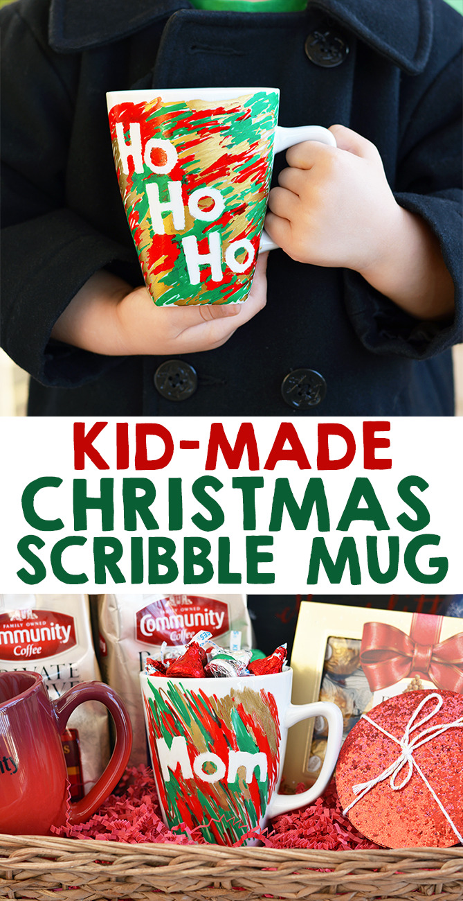 Kid Made Scribble Christmas Mug Gift