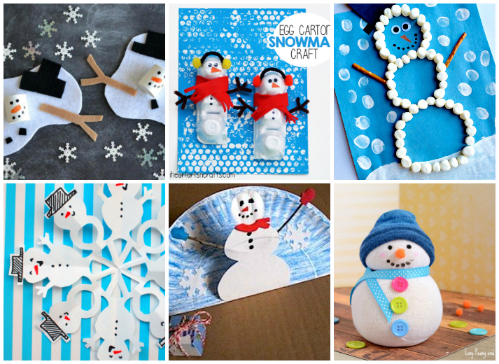 18 Snowman Christmas Crafts for Kids
