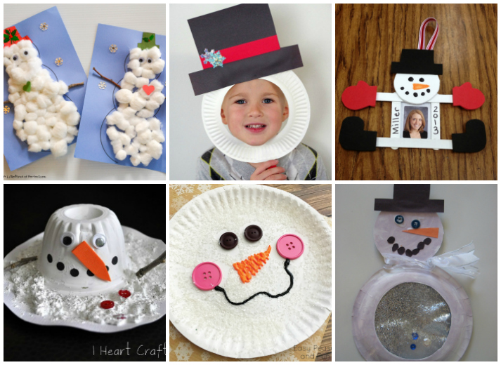 18 Snowman Crafts for Kids
