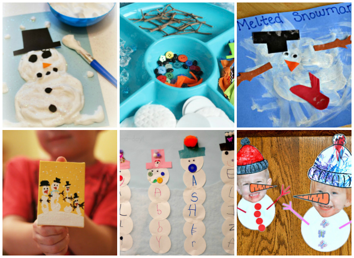 18 Snowman Kids Crafts