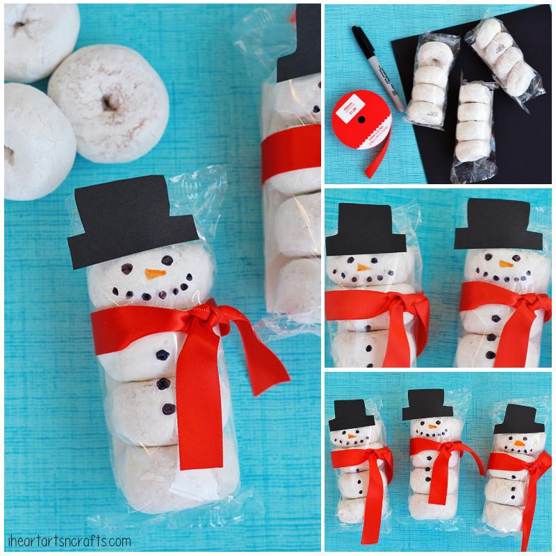 Donut Snowman Classroom Snack