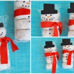 Snowman Donuts Kids Snack Idea