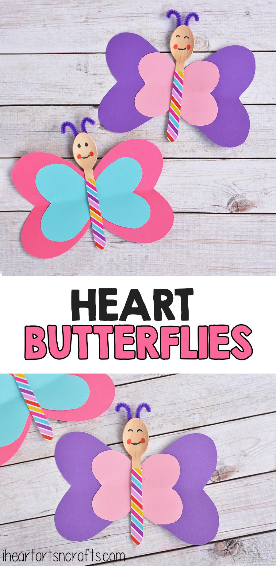 Spoon Heart Butterfly Craft