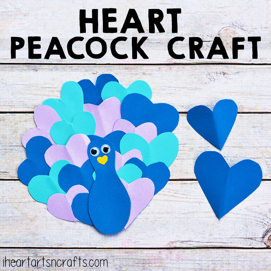 Heart Peacock Craft For Kids