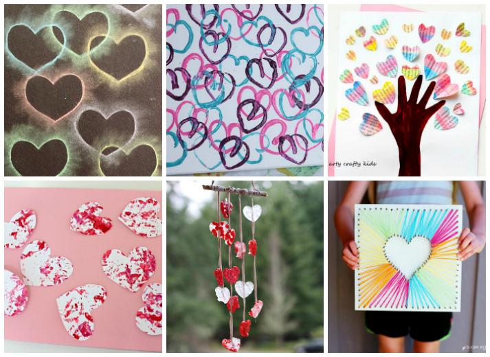 Easy Heart Valentines Day Kids Crafts