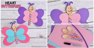 Heart Butterfly Craft For Kids