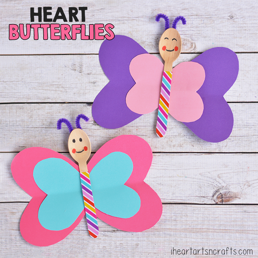 Spoon Heart Butterfly Craft